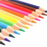 虹色の色鉛筆